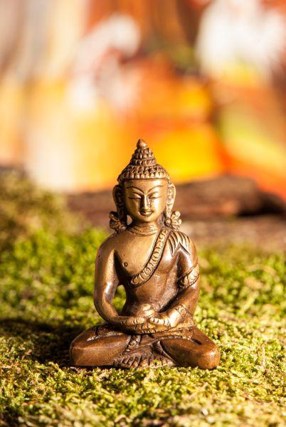 Amitabha Buddha, Messing, 8 cm
