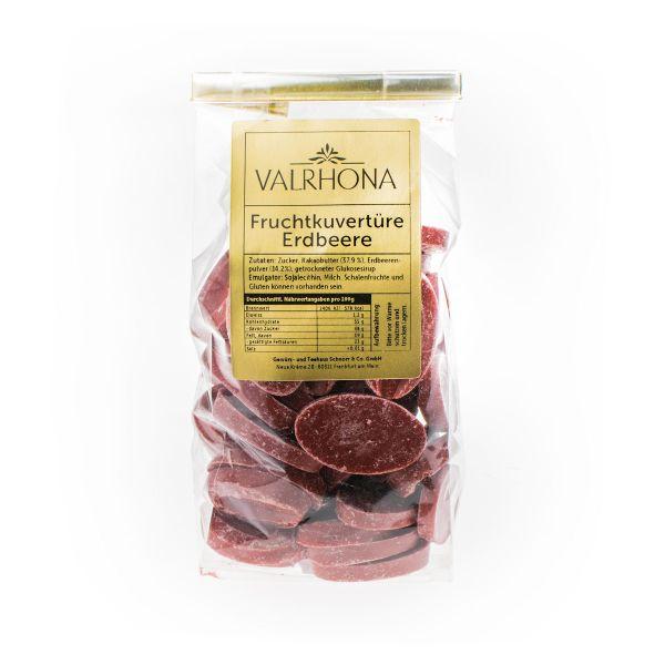 Valrhona Fruchtkuvertüre Chips - Erdbeere