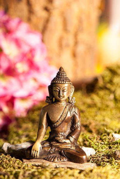 Akshobhya Buddha, Messing, 8 cm
